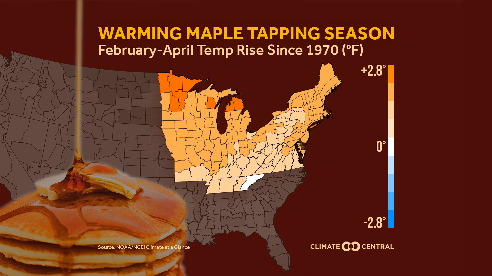 29b9d0f0c9a Warming Tap Season (map) in the Northeast and the Upper Midwest