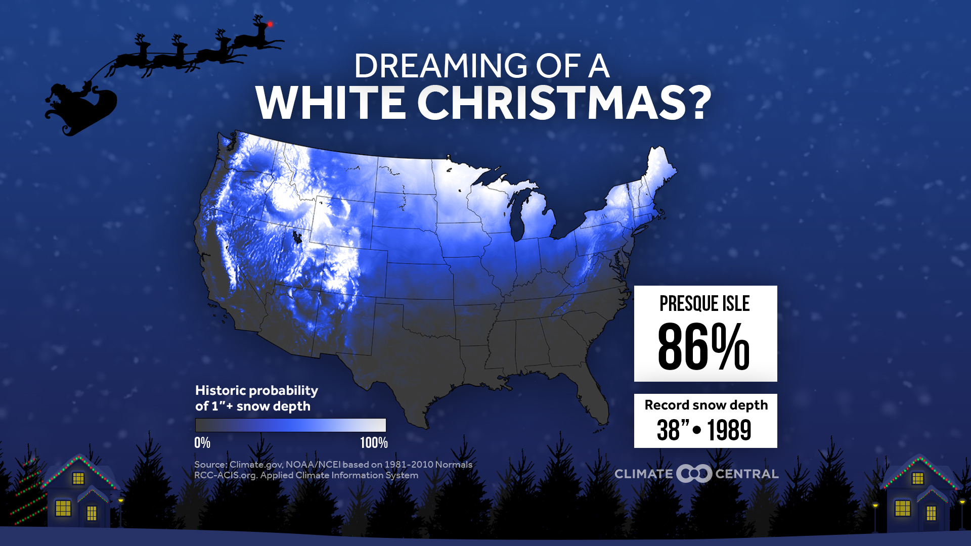 A White Christmas.Will You Have A White Christmas Climate Central
