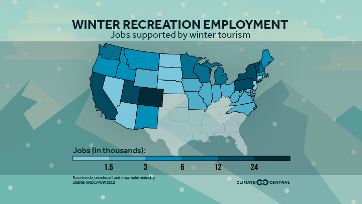 National map of impacts on winter rec