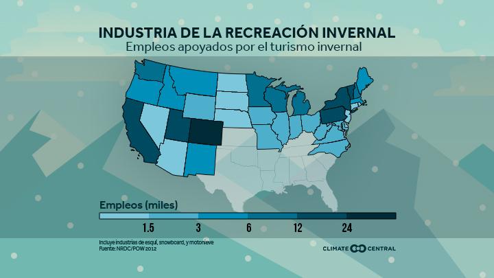 Mapa nacional de los impactos en la recreación de invierno
